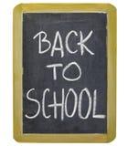De volta à escola no quadro-negro Imagens de Stock Royalty Free