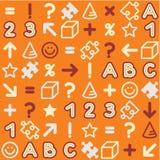 (De volta à escola) teste padrão educacional sem emenda Imagem de Stock Royalty Free