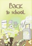 De volta à escola, vetor Fotografia de Stock Royalty Free