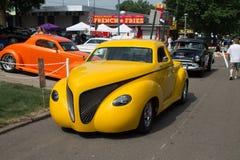 De volta à feira automóvel do clássico de 50 ` s fotos de stock