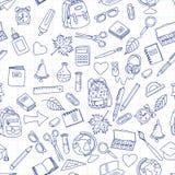 De volta à ilustração da escola na folha de papel do caderno da escola Foto de Stock