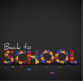 De volta à ilustração do vetor da escola feita das letras Foto de Stock Royalty Free