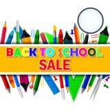 De volta à venda da escola ilustração stock