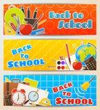 De volta às bandeiras de escola ilustração stock