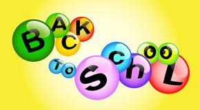 De volta às bolhas coloridos da escola ilustração royalty free