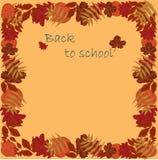 De volta às folhas de outono da escola Fotos de Stock Royalty Free
