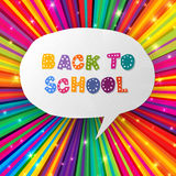 De volta às palavras da escola em raias coloridas Fotografia de Stock Royalty Free