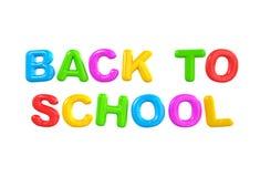 De volta alfabeto colorido inglês da escola ao multi Imagem de Stock Royalty Free