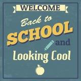 De volta ao cartaz do projeto da escola Fotografia de Stock Royalty Free