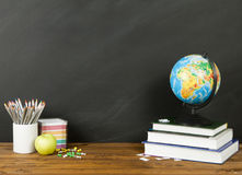 De volta ao conceito da escola para seu texto, projeto Fotos de Stock
