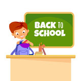De volta ao conceito de projeto dos desenhos animados da escola Foto de Stock Royalty Free