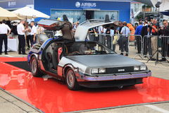 De volta ao Delorean futuro Imagem de Stock Royalty Free