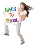 De volta ao estudante fêmea da escola Imagem de Stock
