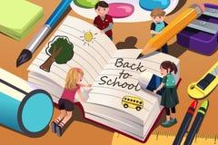 De volta ao fundo da escola (EPS+JPG) Imagens de Stock