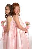 De volta ao retrato traseiro das irmãs Foto de Stock Royalty Free