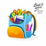 De volta ao saco da laranja da escola Fotos de Stock