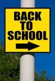 De volta ao sinal da escola Imagens de Stock