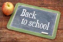 De volta ao sinal do quadro-negro da escola Imagem de Stock Royalty Free