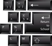 De volta ao teclado da escola Foto de Stock Royalty Free