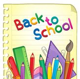 De volta ao tema 6 da escola Fotos de Stock