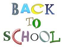 De volta ao texto colorido da escola Imagem de Stock Royalty Free