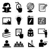 De volta aos ícones da escola Imagem de Stock