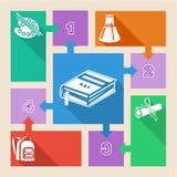 De volta aos elementos infographic da escola Fotos de Stock Royalty Free