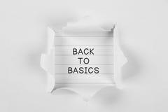 De volta aos princípios Imagem de Stock