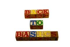 De volta aos princípios Foto de Stock