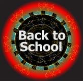 De volta aos projetos caligráficos da escola, ao conceito retro dos elementos do estilo, o tipográfico e da educação Fotos de Stock Royalty Free