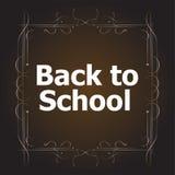 De volta aos projetos caligráficos da escola, aos elementos do estilo, a tipográfico retros e educação Foto de Stock