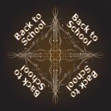 De volta aos projetos caligráficos da escola, elementos retros do estilo Imagem de Stock