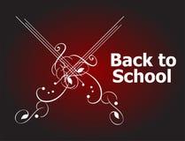 De volta aos projetos caligráficos da escola, elementos retros do estilo Imagem de Stock Royalty Free