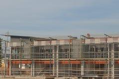 De voltooiing van een commercieel gebouw Royalty-vrije Stock Foto's