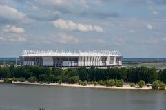 De voltooiing van het stadion voor het voetbalkampioenschap in rostov-Na-Donu Stock Fotografie