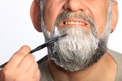 De volwassen baard van de mensenkleur stock foto