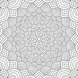 De volwassen pagina van het kleuringsboek vector illustratie