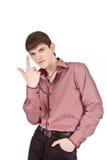 De volwassen zakenman isoleert backout Stock Fotografie