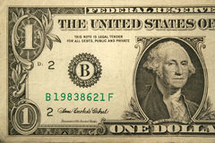 De voor van de één dollarHelft rekening Stock Foto's