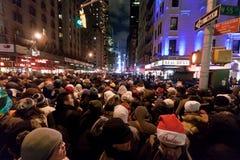 De Vooravond 2009 van de Nieuwjaren van het Times Square Stock Foto