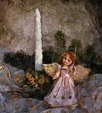De vooravond van het fabelachtige nieuwe jaar Uitvoering van wensen Het Stilleven van Kerstmis Het schilderen van natte waterverf royalty-vrije illustratie