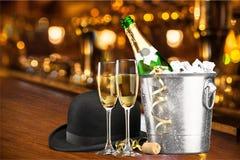 De vooravond van het nieuwe jaar Stock Foto's