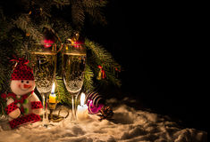 De vooravond van Kerstmis Stock Foto's