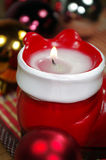 De vooravond van Kerstmis met kaars Royalty-vrije Stock Afbeelding