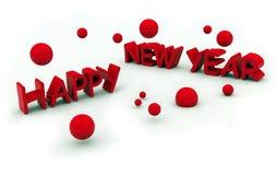 De vooravondtekst van het gelukkige nieuwe jaar Royalty-vrije Stock Afbeelding