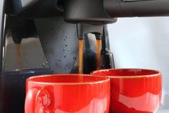 De voorbereiding van de koffie Stock Afbeeldingen