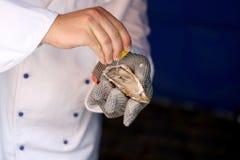 De voorbereiding van de oester Royalty-vrije Stock Foto