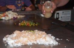 De Voorbereiding van de rijst Stock Afbeelding