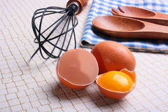 De voorbereiding van eieren Royalty-vrije Stock Foto
