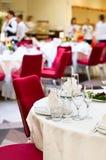 De voorbereiding van gebeurtenissen voor diner Royalty-vrije Stock Foto